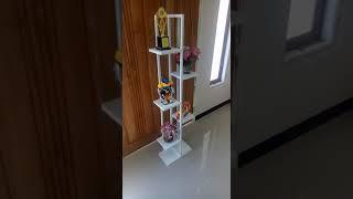 rak pot besi - rak bunga besi - rak unik dekorasi rumah
