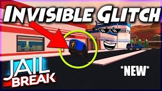 *NEW* INVISIBLE GLITCH IN JAILBREAK ROBLOX! (2018) JAILBREAK ROBLOX GLITCHES!