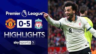 Liverpool thrash Man United as Salah scores hat-trick   Man United 0-5 Liverpool   EPL Highlights