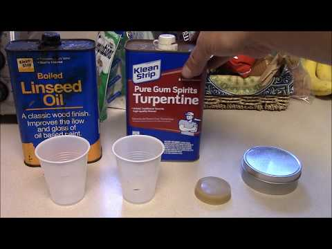 DIY Gunny's Paste wood preservative for oil finishes