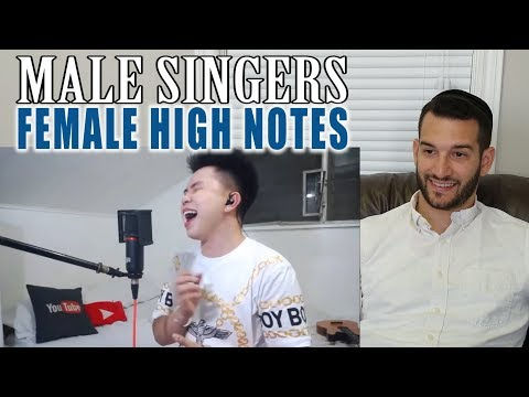 SINGING TEACHER reaction to MALE SINGERS HITTING FEMALE SINGER'S NOTES