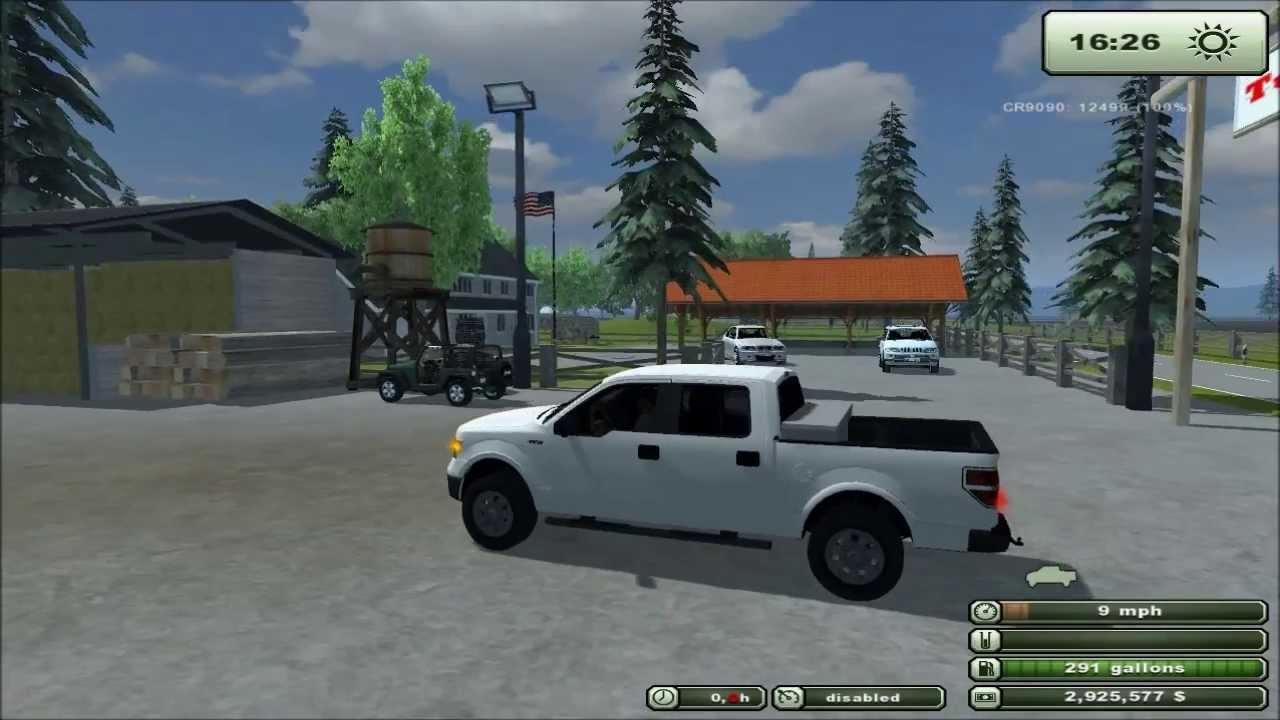 Farming simulator 2013 texas mod 2010 ford f150 crew cab v1 1 sharp truck youtube