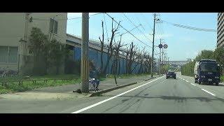 港湾道路第三工区魚崎浜 速度取り締まり(ネズミ撮り)