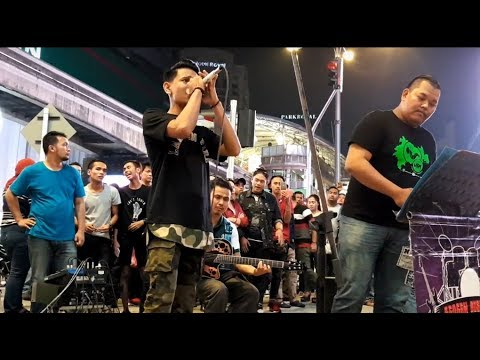 budak kolej suara macho & erul ft Redeem buskers-sandiwara(Expose band)
