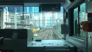 【前面展望】JR東日本山手線外回り 東京駅~高輪ゲートウェイ駅 (2020/7/11)