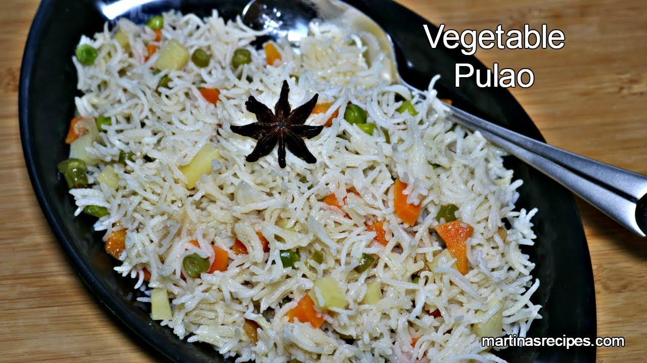 Vegetable Pulao Kadai Pulao One Pot Lunch Dinner Easy Rice Recipes Veg Pulao