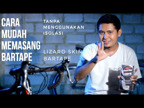 cara memasang bartape sepeda balap tanpa isolasi | lizard skin