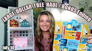 LARGE Dollar Tree Haul 💥PLUS💥 BONUS Ending �