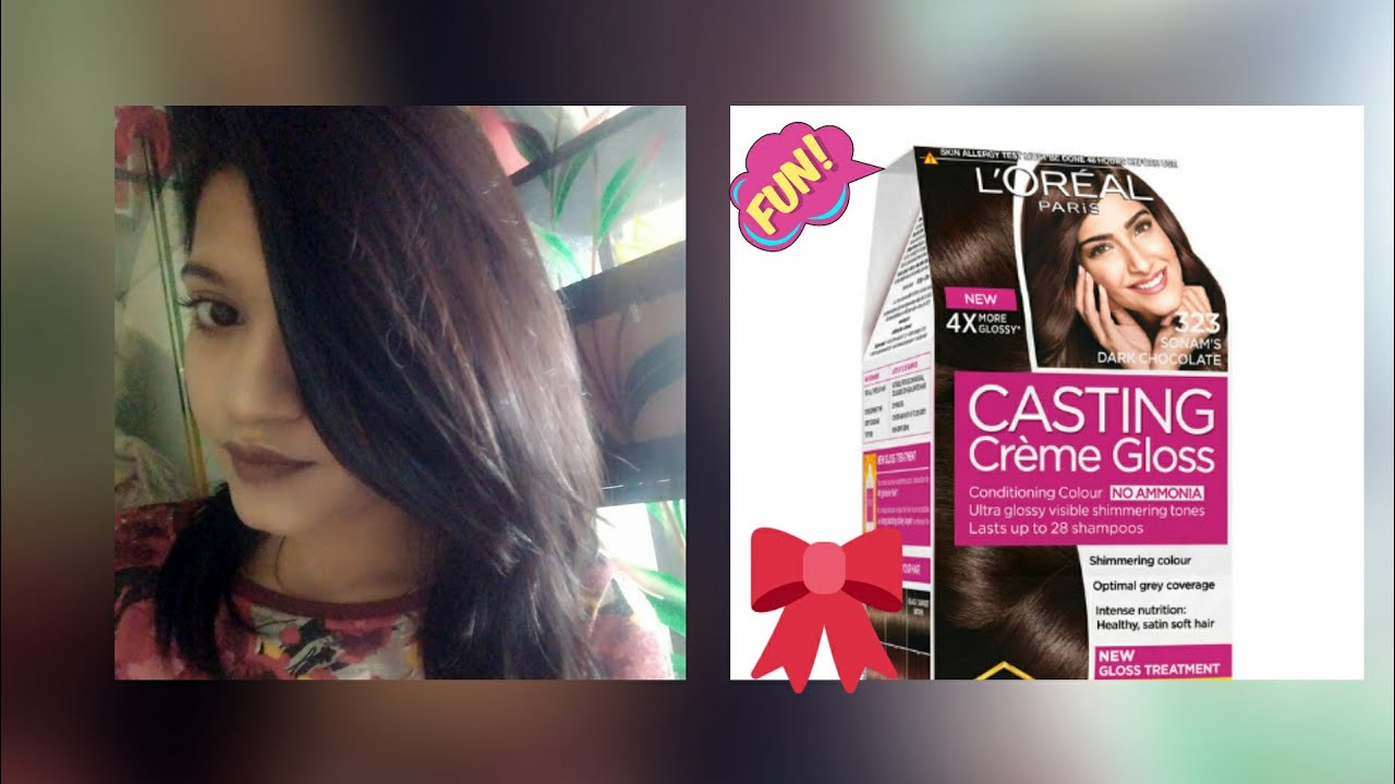 14eb1866f How to color your hair at home - Loreal Casting Cream Gloss Hair Color 323  Sonam's dark chocolate