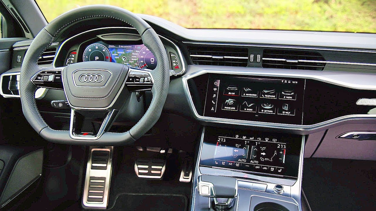 audi a6 avant 2019 interiors youtube. Black Bedroom Furniture Sets. Home Design Ideas