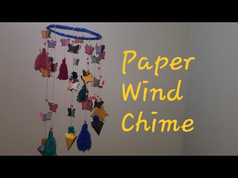 diy projects   wind chime  paper craft