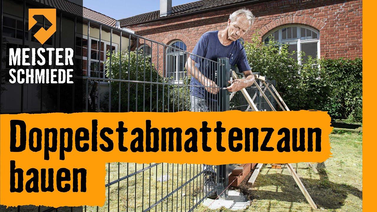 Hornbach Meisterschmiede Doppelstabmattenzaun Bauen Youtube
