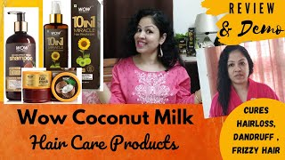 Wow Coconut Milk Shampoo Hair Mask Hair Revitalizer Review Demo Cures Hairloss Dandruff