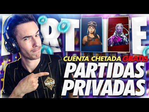 🔴Si GANAS te doy CUENTA CHETADA de FORTNITE *GRATIS* |  PARTIDAS PRIVADAS con SUSCRIPTORES