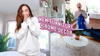 new home furniture + bathroom mirror remodel!!
