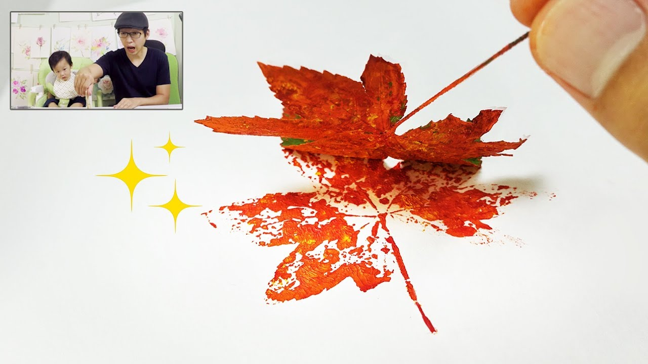 Fall leaf prints painting idea easy fun creative art for Creative paintings pictures