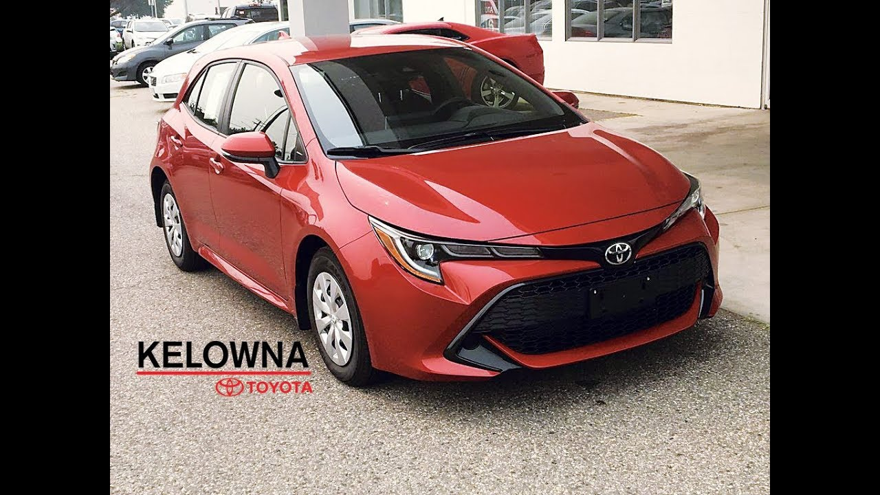 2019 Toyota Corolla Hatchback Paprika Red Auto Youtube
