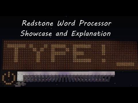 Minecraft Word Processor | Showcase And Explanation