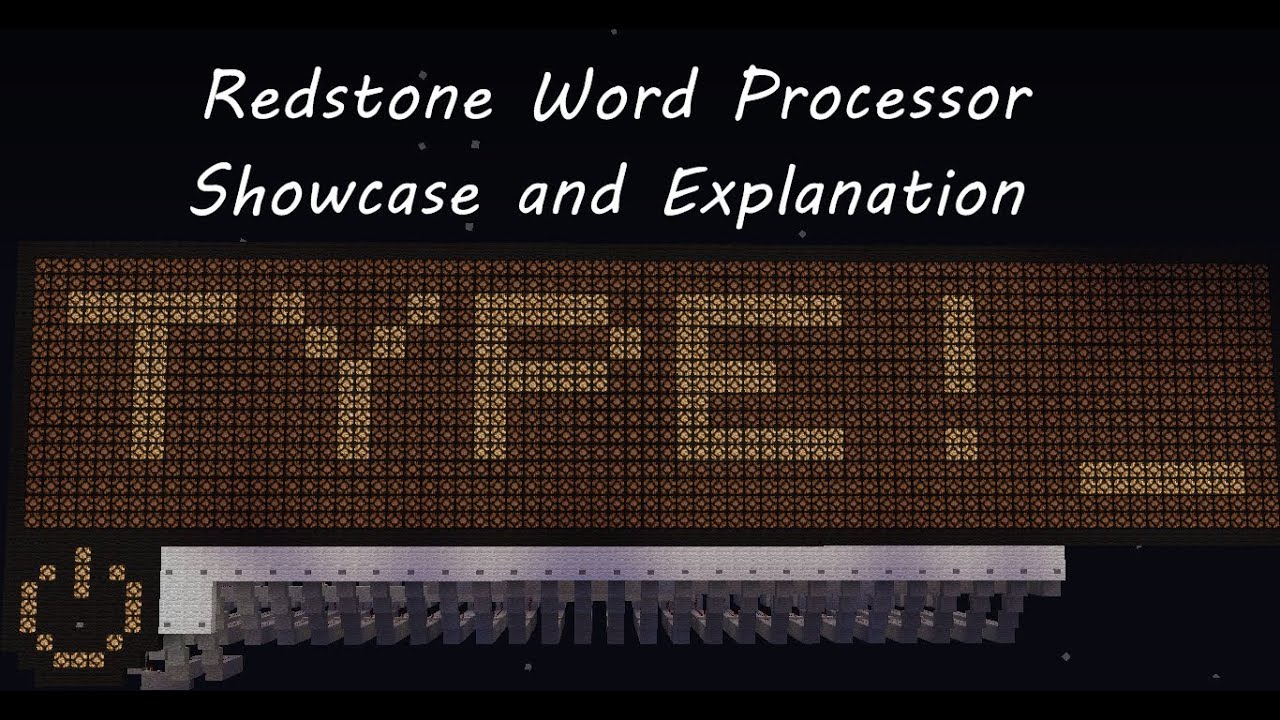 Minecraft Word Processor | Showcase And Explanation - YouTube