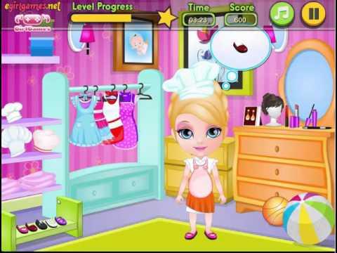 Мультфильм Игра - Малышка Барби готовит торт