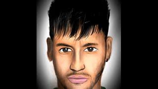 Digital Illustration of Drawing Neymar Jr. - Brazil (Timelapse)