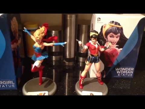 DC Bombshells SuperGirl and Wonder Woman