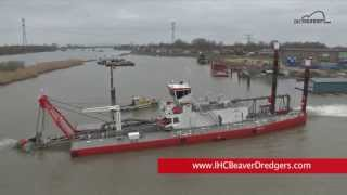 IHC Beaver 65 DDSP cutter suction dredger - footage from commissioning trails