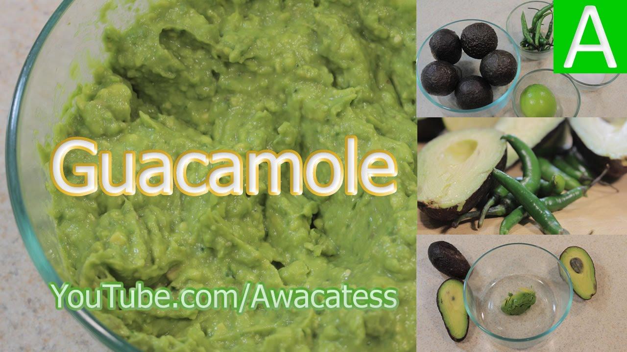 El mejor guacamole casero recetas de comidas mexicanas for Comidas faciles de preparar