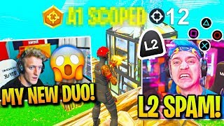 Tfue's NEW Controller DUO *DESTROYS* NINJA then CLUTCHES Pro SCRIM!