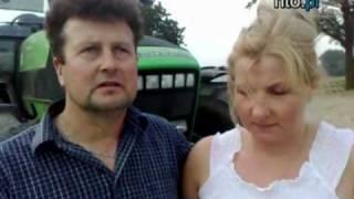 Dariusz i Elżbieta Klusko prezentuja swoje gospodarstwo rolne