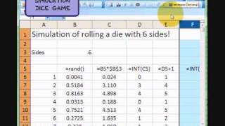 MGS3100 Dice Simulation Part 1 of 3