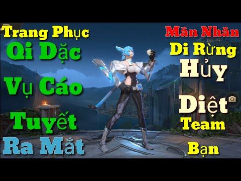 Trang Phục Qi Mùa 13 Đặc Vụ Cáo Tuyết Ra Mắt - Mãn Nhãn Qi Đi Rừng Hủy Diệt Team Bạn | AoV | RoV