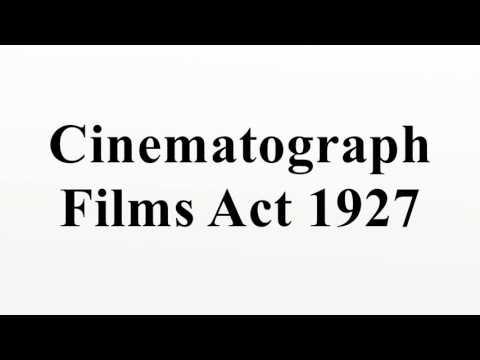 Cinematograph Films Act 1927
