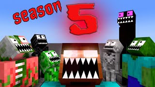 Monster School: SEASON 5 ALL EPISODE - Minecraft Animation