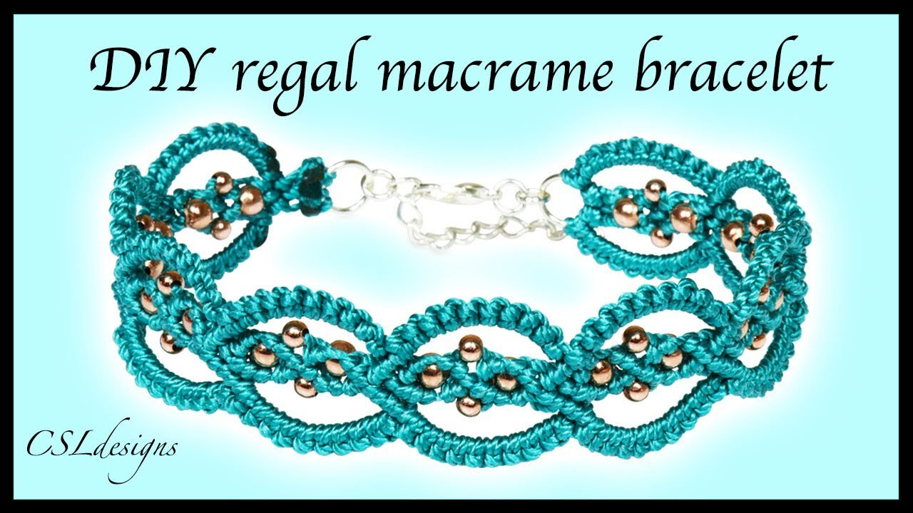 Diy Regal Macrame Bracelet Youtube