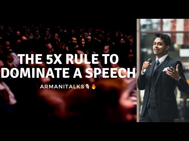 The 5X Rule: Public Speaking Practice made Easy