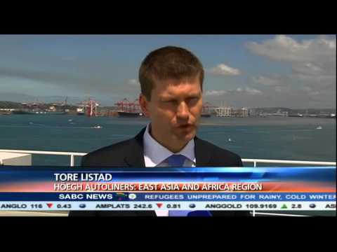 Durban welcomed the world's largest pure car and truck carrier