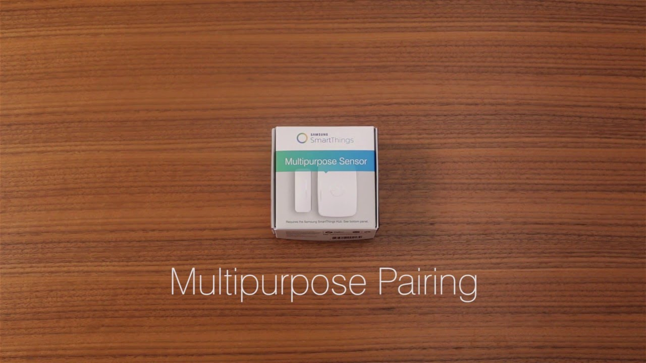 How to Connect the Samsung SmartThings Multipurpose Sensor