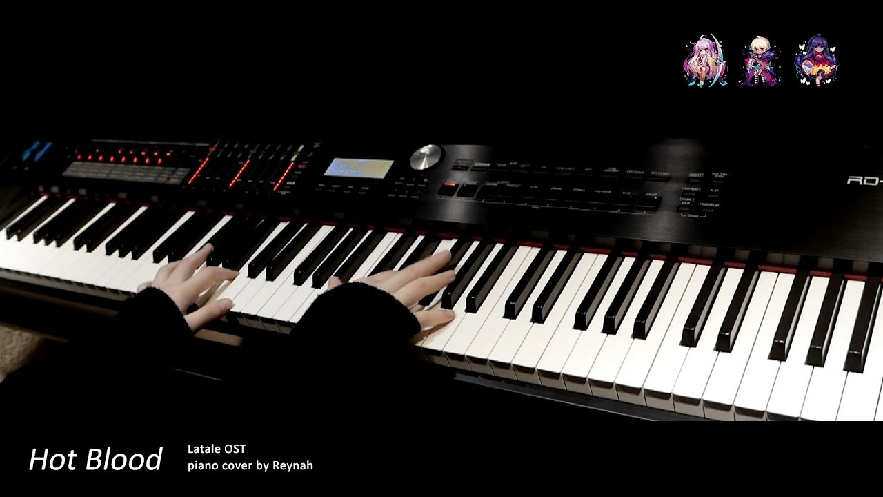 """Download 라테일 Latale OST : """"Hot Blood"""" Piano cover 피아노 커버"""