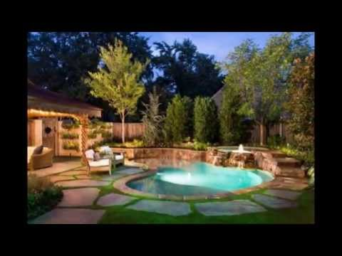 Kidney Shaped Swimming Pool Patio Design Ideas - YouTube
