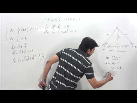 HERON 'S FORMULA- For Area Of a Triangle Proof in simplest way