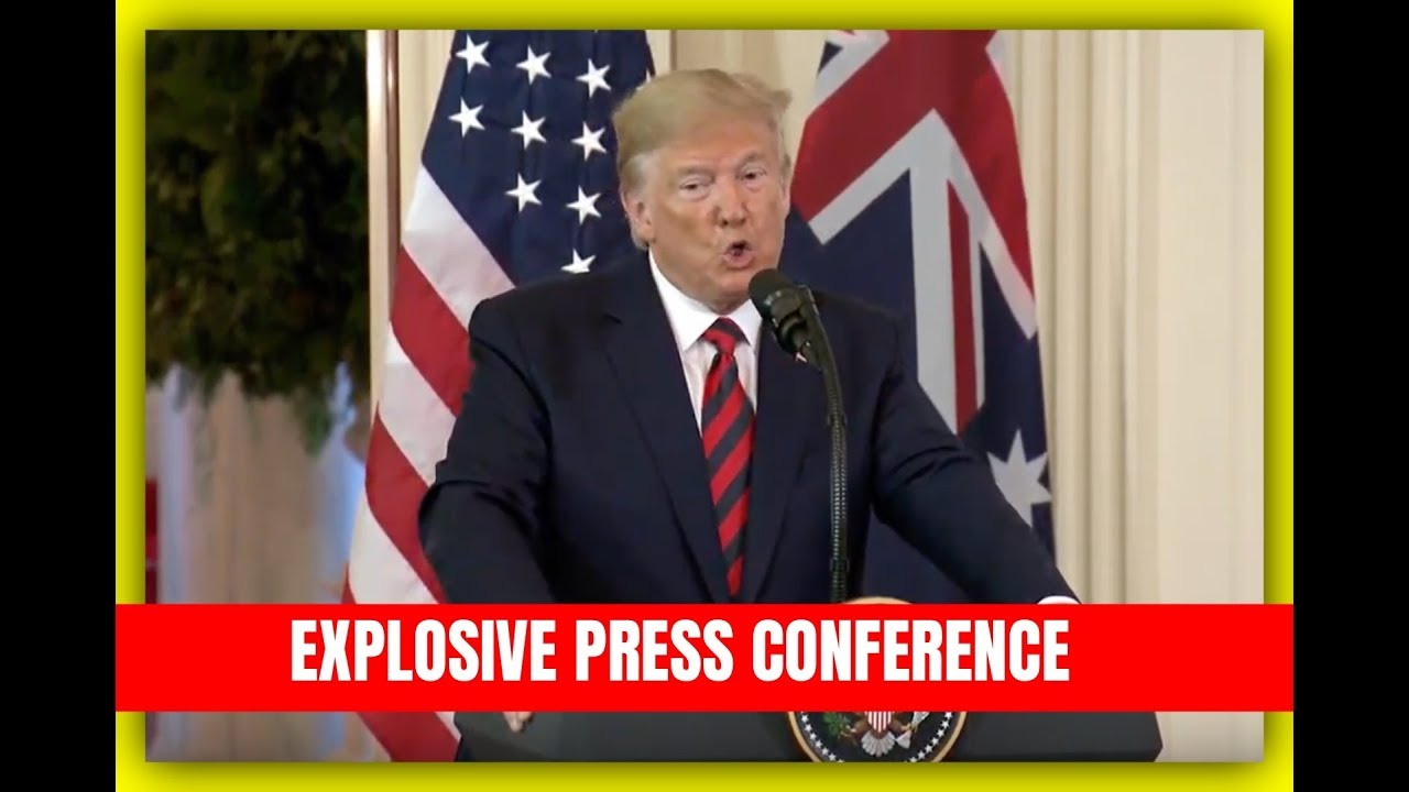 GST URGENT President Trump EXPLOSIVE Press Conference with Australian Prime Minister Scott Morrison