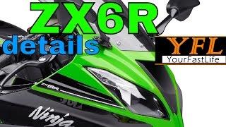 ✔ ZX6R 2016 Kawasaki Ninja in depth DETAILS! #ZX6R