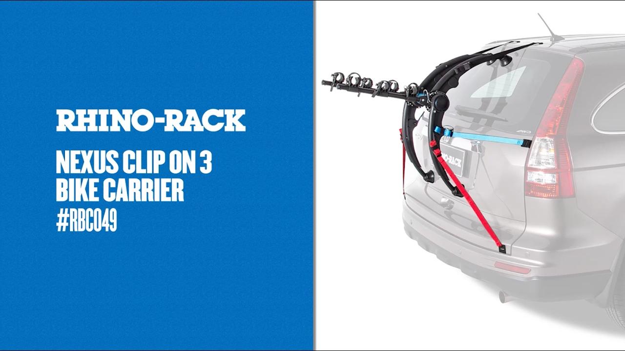 rhino rack nexus clip on 3 bike carrier rbc049