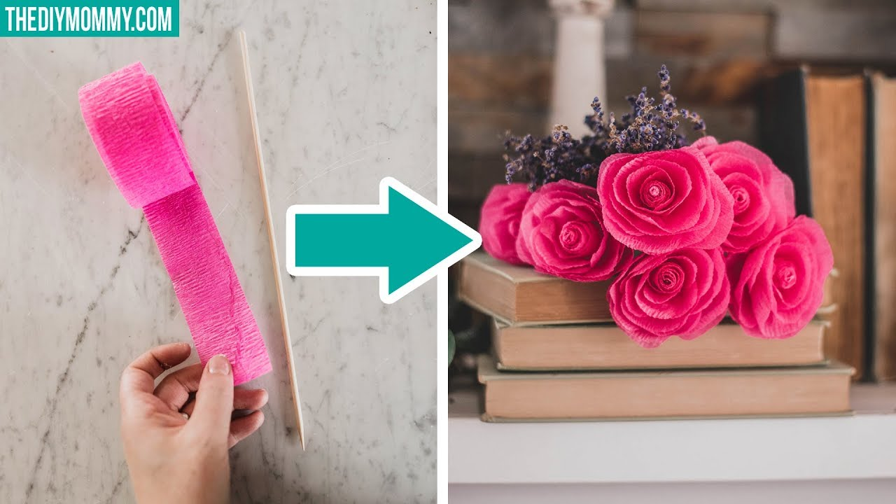 Home Style Beauty Scenery How To Make Paper Roses From Dollar