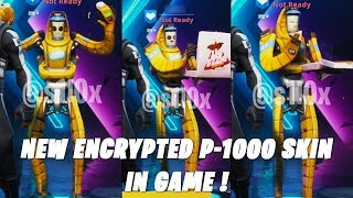 Fortnite New Encrypted P-1000 Skin And Leaked Emotes In Game ! Season X
