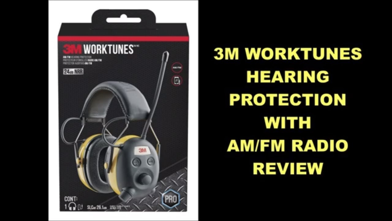 3M Worktunes Hearing Protection With AM/FM Radio