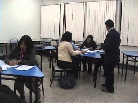 La Cantuta University Demo Class  at Graduate School. Lima, Peru (Part 1)