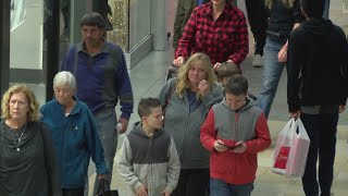 Black Friday shoppers pack local shopping centers
