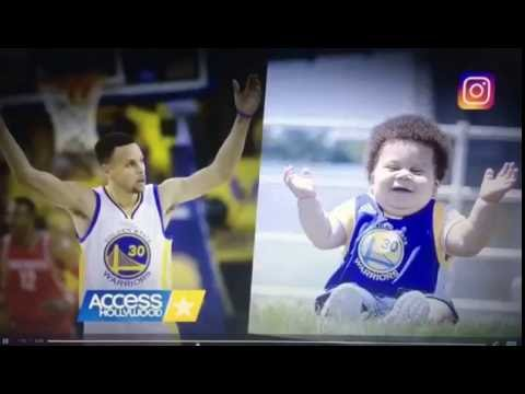 Steph Curry talking about Landon 'Stuff Curry' Lee on Access Hollywood